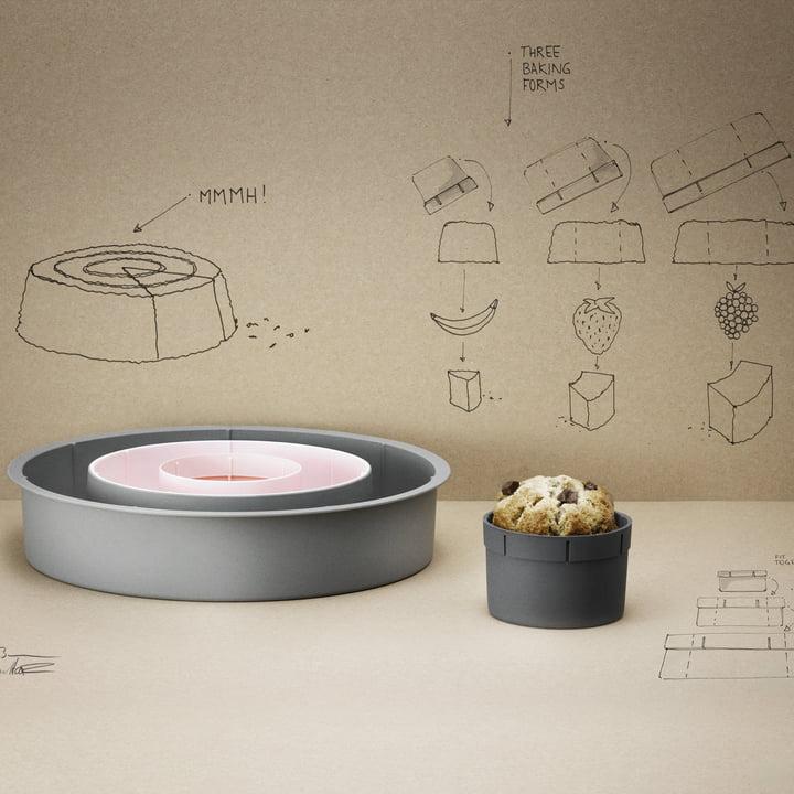 Stelton - Photo d'ambiance des moules à gâteaux Rig-Tig