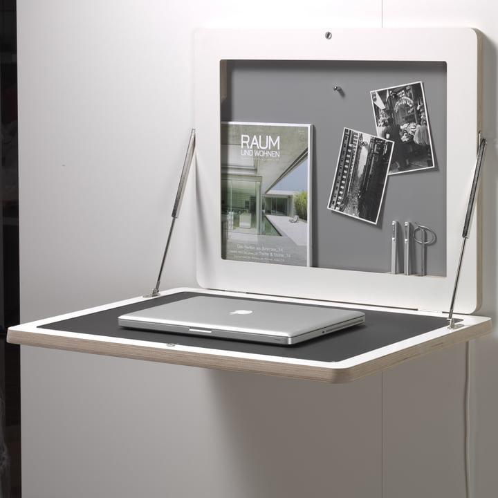 Müller Möbelwerkstätten - Workframe, blanc/ linoléum