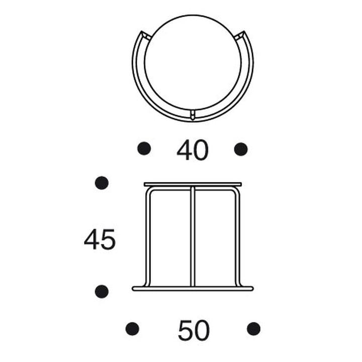 Artek - Side Table 606 - Dimensions