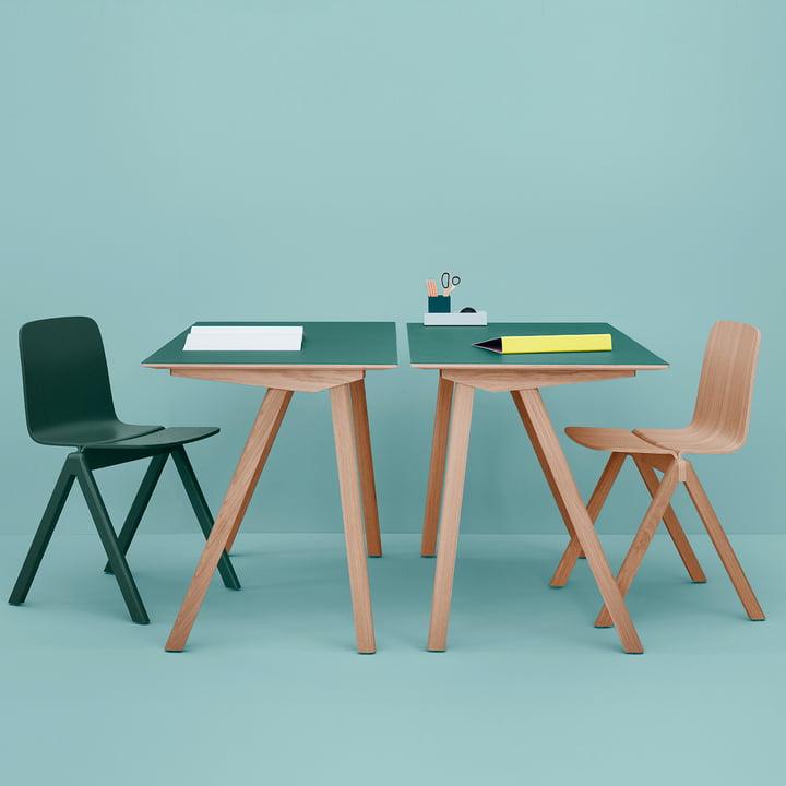 Hay - Copenhague, le groupe bureaux et chaises