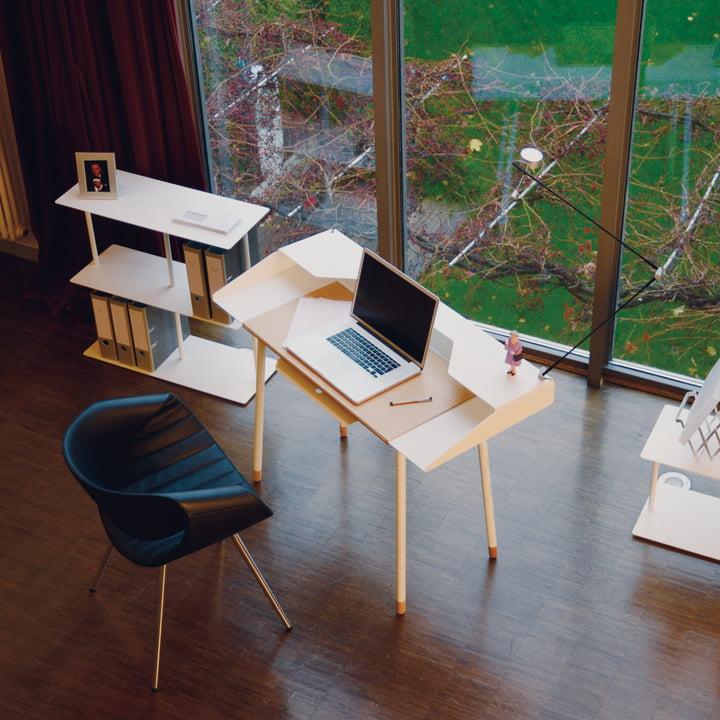 Radius Design - Secrétaire Miss Moneypenny, avec des étagères