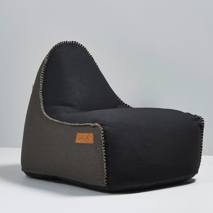 Sack it - Fauteuil Retro it Indoor, noir/marron