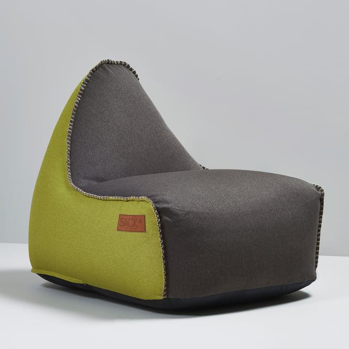 Sack it - Fauteuil Retro it Indoor, marron/citron vert