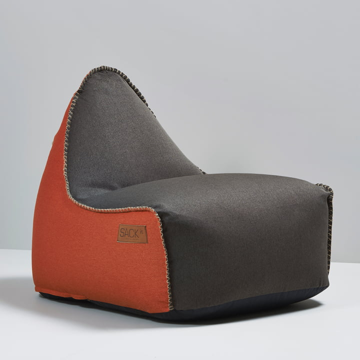 Sack it - Fauteuil Retro it Indoor, marron/orange