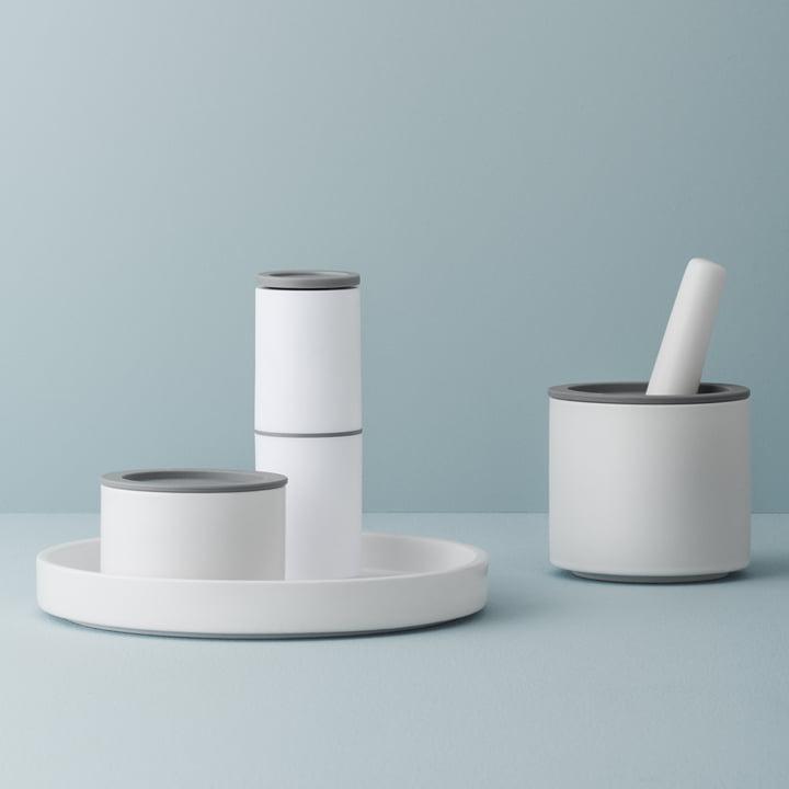 Accessoire fonctionnel du quotidien en blanc-gris