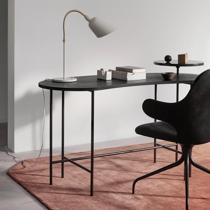 Bureau Palette JH9, en frêne noir / Nero Marquina