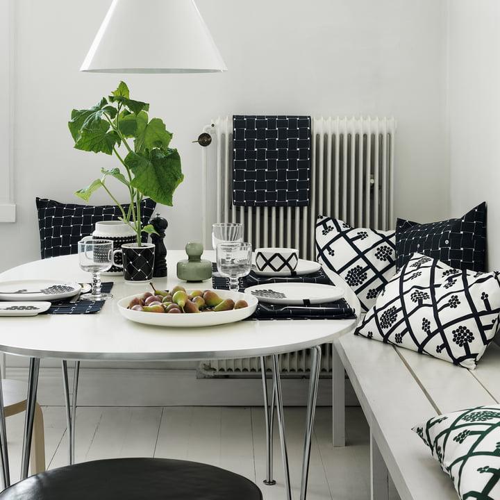 La collection Spaljé de Marimekko dans une salle à manger confortable