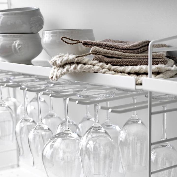 Module porte-verres pour verres de vin par String