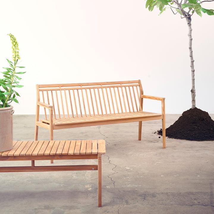 Fdb møbler - Banc de jardin sans dossier   Connox