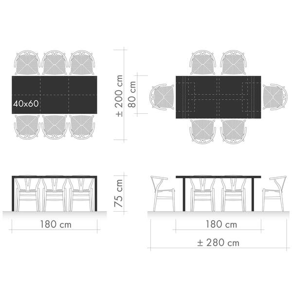 Tables de salle à manger Graphique 1 - Disposition des sièges