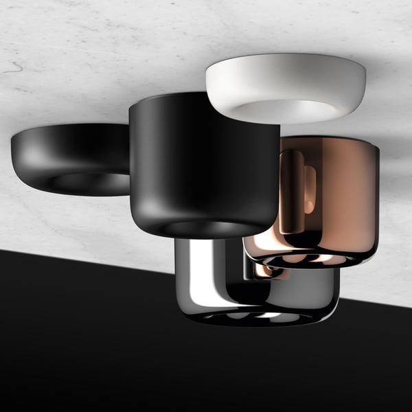 Plafonnier à LED à cavité par serien.lighting