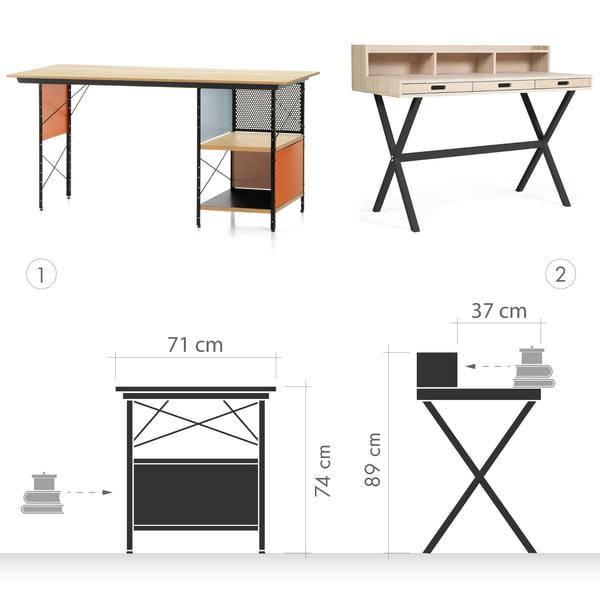 Desk Graphic 1 - Bureau contre secrétaire