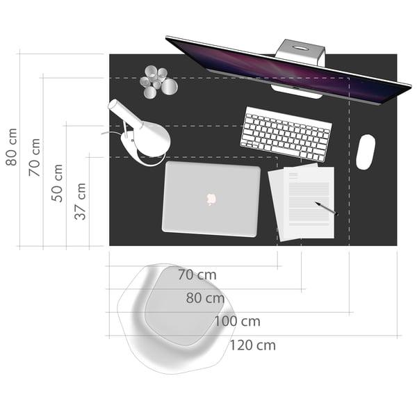Desk Graphic 5 - Taille de l'espace de travail